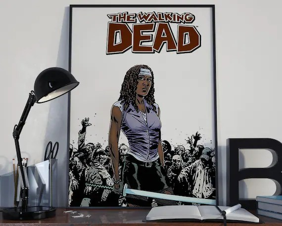 Walking Dead Comic Book Art 11 Classic Comic Book Cover Art Cover for the Big Boys Geek man cave nerds bedroom office