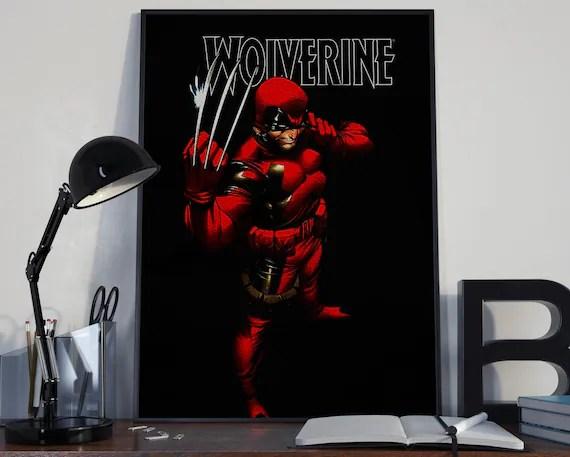 Wolverine - Comic 1 - Deadpool Costume Classic Comic style for the Big Boys Geek kids man cave nerds bedroom office superhero marvel