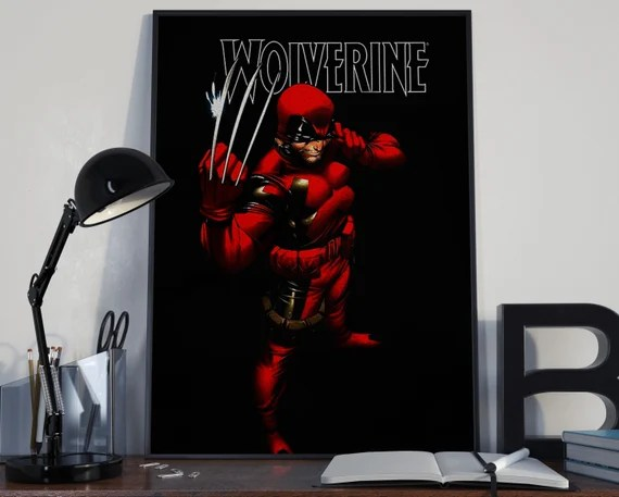 Wolverine - Comic 1 - Deadpool Costume Classic Comic style for the Big Boys Geek kids man cave nerds bedroom office superhero marvel