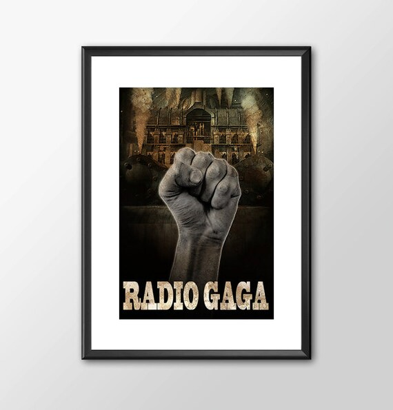 Radio GaGa - Queen and Freddy Mercury Tribute -  for the Big Boys Geek man cave nerds bedroom office