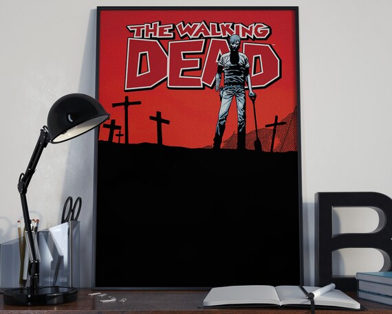 Walking Dead Comic Book Art 7 - Classic Comic Book Cover Art Cover for the Big Boys Geek man cave nerds bedroom office