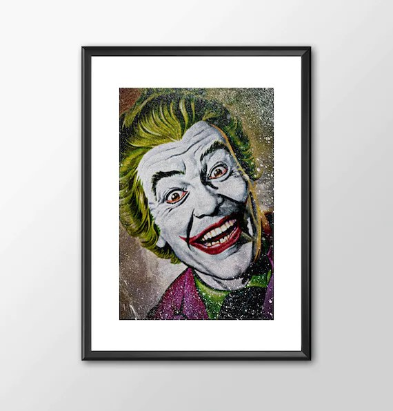 Romero's The Joker  2 - Superhero Tribute Classic Batman Tv Series for the Big Boys Geek man cave nerds bedroom office superhero dc comics