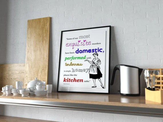 Hitchcock Kitchen (read closely) - Kitchen Wall Art  old style lounge kitchen home decor girl