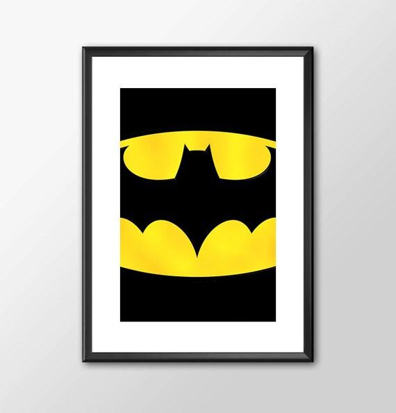 Batman Logo - comic book style for the Big Boys Geek man cave nerds bedroom office kids nursery superhero dc comics