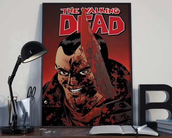 Walking Dead Classic Comic Book Cover Art 2 Cover for the Big Boys Geek man cave nerds bedroom office kids superhero