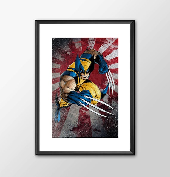 The Wolverine - Classic Comic style for the Big Boys Geek kids man cave nerds bedroom office superhero marvel