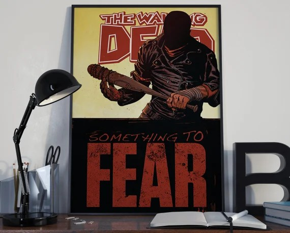 Walking Dead 8 Classic Comic Book Cover Art Cover for the Big Boys Geek man cave nerds bedroom office kids superhero