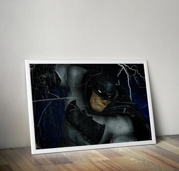 The Dark Knight - Frank Miller Batman Classic Comic style for the Big Boys Geek kids man cave nerds bedroom office superhero