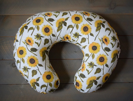 nursing pillow cover sunflower floral sunflowers cover for boppy breastfeeding pillow slipcover yellow flower nursing pillow cover