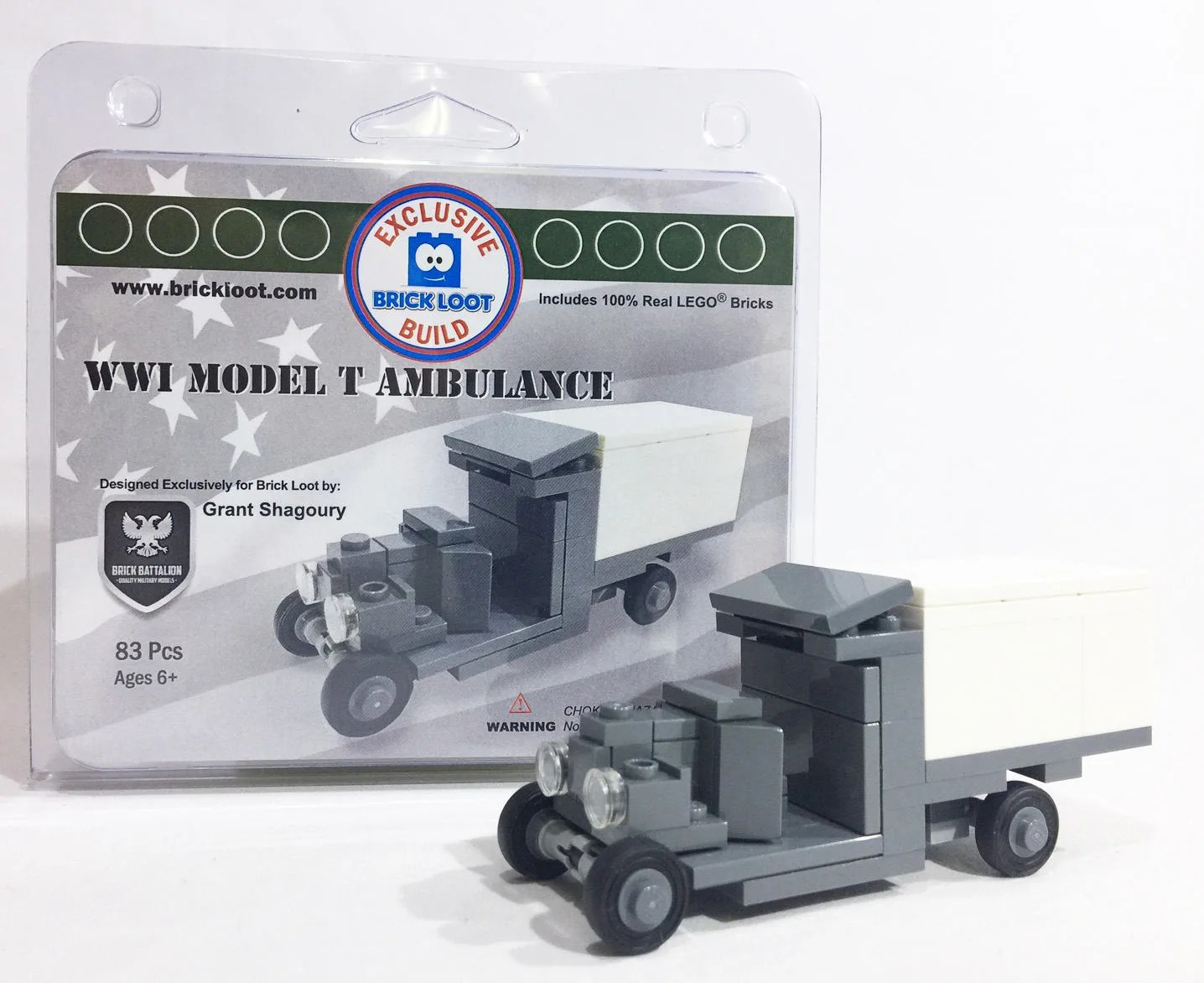 Cubs lego   Etsy Exclusive Brick Loot Model T Ambulance by Brick Battalion   100  LEGO Bricks