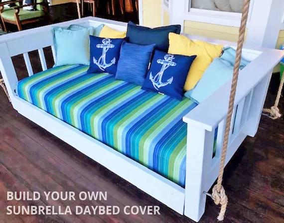 custom sunbrella daybed cover outdoor fabric mattress etsy