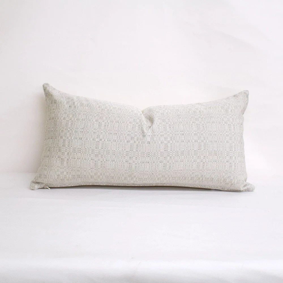indoor outdoor sunbrella linen silver 24x12 throw pillow home decor sunbrella pillow pillow cover lumbar pillow