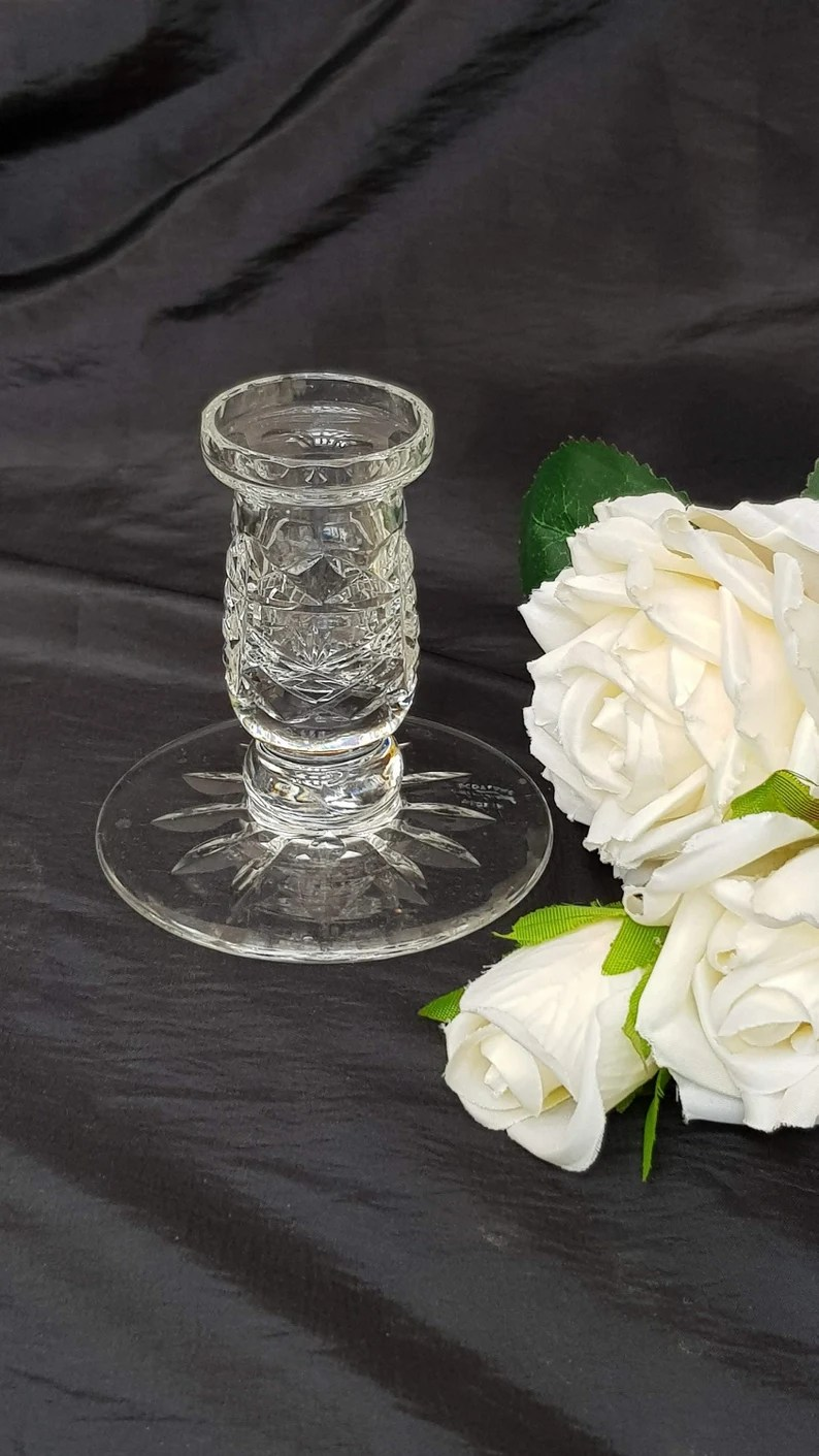 Stunning Edinburgh Crystal Candlestick Vintage Gift Made in image 0