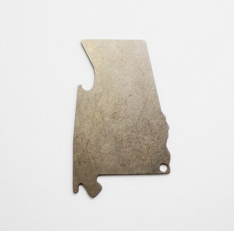 Alabama Shaped Bottle Opener Keychain image 0