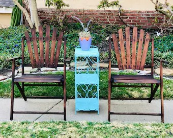 vintage patio chairs etsy