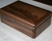 Wood Jewelry Box, 5th Anniversary Gift for Him, Wooden Jewelry Box, Jewelry Box Organizer, American Walnut Wood Box. 61W