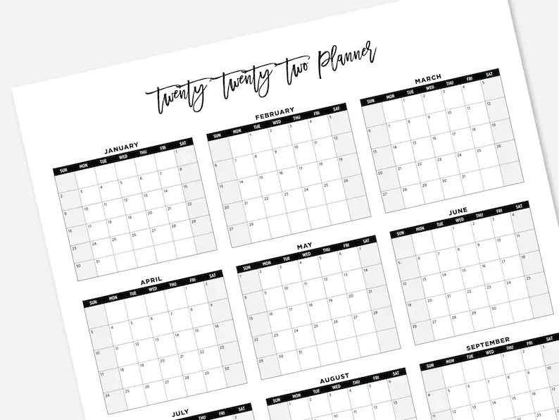 2021 has plenty of important financial dates and deadlines to track, and our personal finance calendar has them all in one place. 2022 Printable Large Calendar 2022 Simple Wall Calendar ...