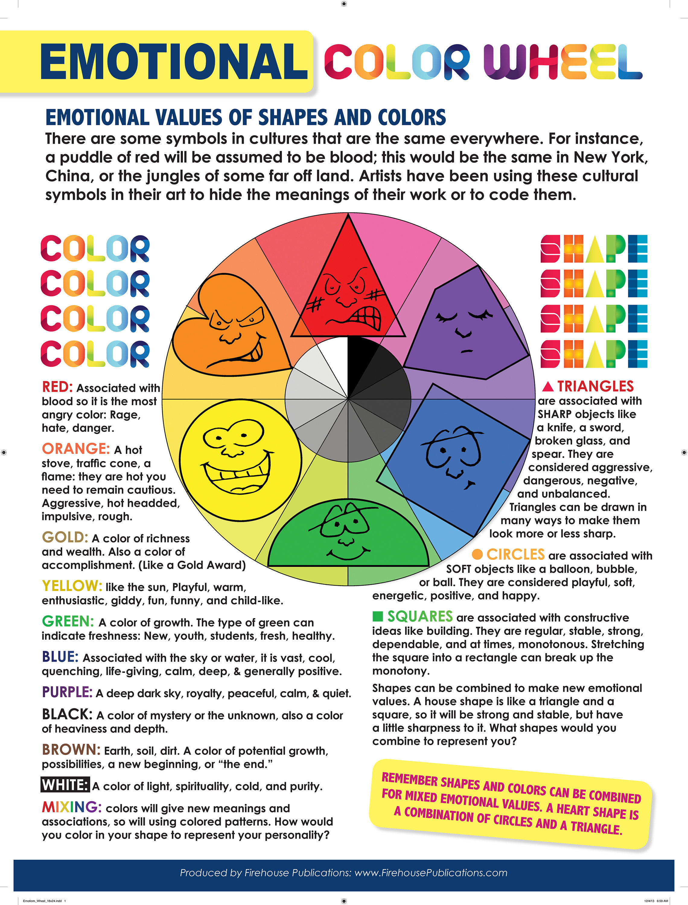 The Emotional Color Wheel Poster