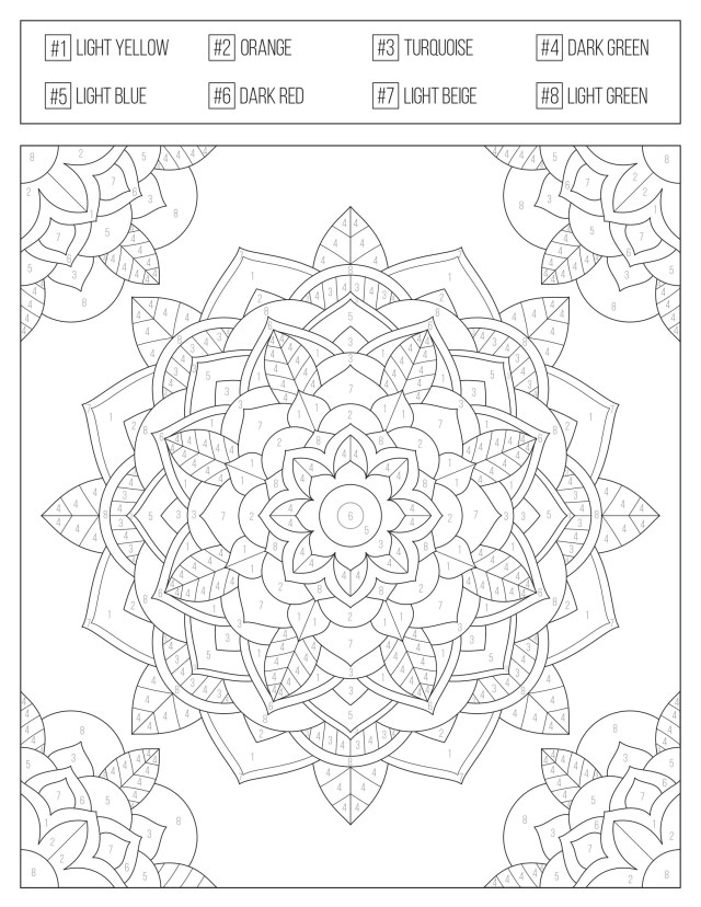 Color by Numbers Printable Coloring Book for Adults & Teens , Etsy