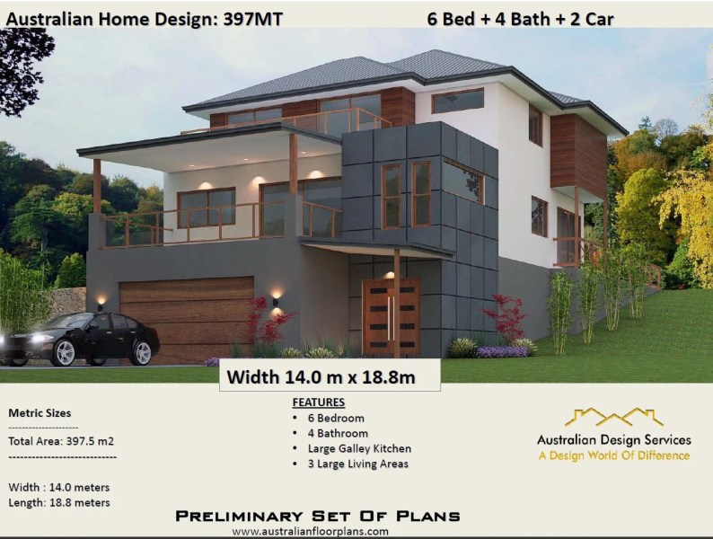Three Bedrooms country style plans 85 121 m2 Concept House 397MT   Modern Concept House plans for sale   6 Bedrooms   Rumpus   Parents  Plans For Sale
