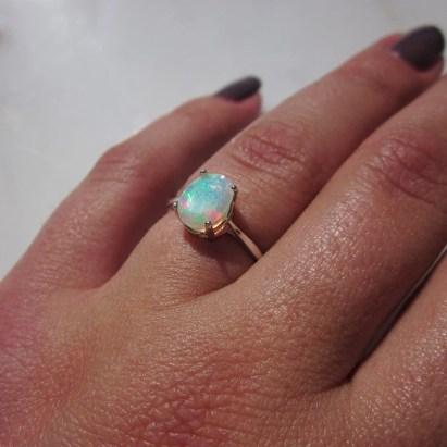 Opal Ring Genuine Opal Fire Opal Rainbow Opal Special image 0