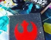 Rebel symbol on easel or ...