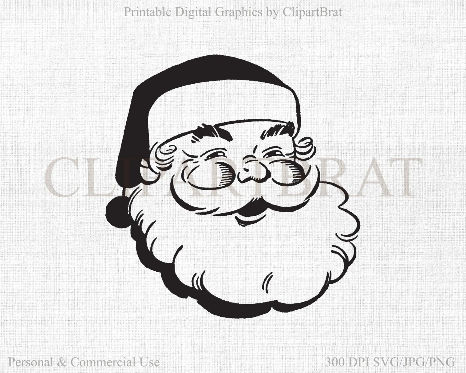 Christmas Santa Clipart For Commercial Use Santa Claus Svg