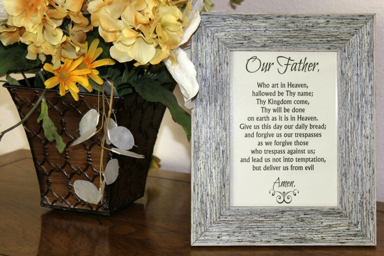 The Lord S Prayer Printable Our Father Prayer Print Diy