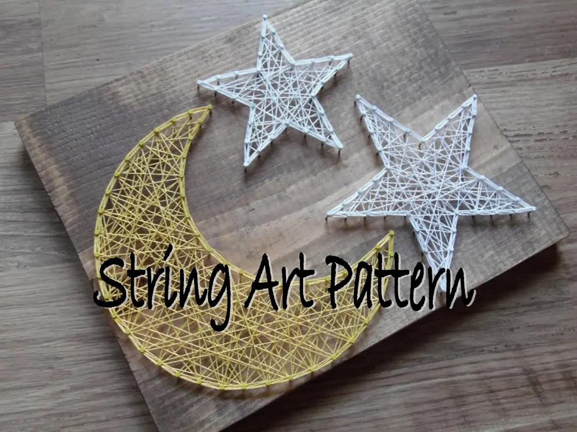 Moon And Star String Art Pattern String Art Pattern String