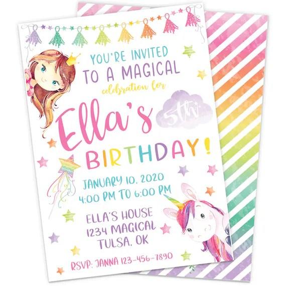 magical unicorn birthday party