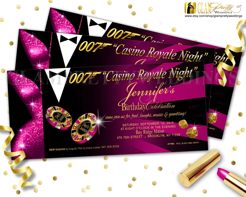 Printable Birthday Invitation And Rsvp Card Diamond