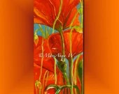 Floral Painting, Mural Painting, Wall Decoration, Art Deco, Poppy-Passion, Acrylic on canvas