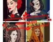 Custom Digital Art Commission - Portrait, Real and Fantasy Character, Pet, Illustration