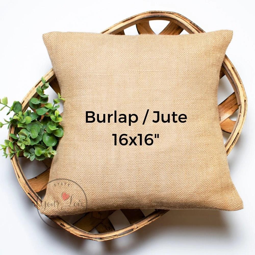 12x20 burlap jute blank pillow cover