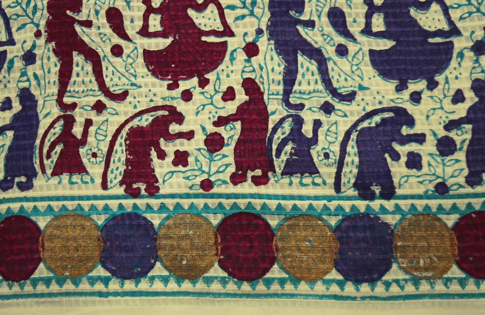Home Decor Fabric Tribal Print Beige Fabric Quilt Fabric