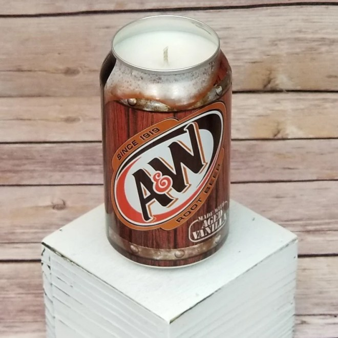Soy Candle A & W Root Beer Can Soy Candle with Custom Scent  image 0