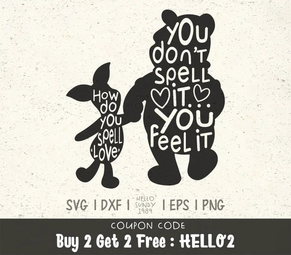 Download How Do You Spell Love svg Winnie The Pooh Quote Clipart ...