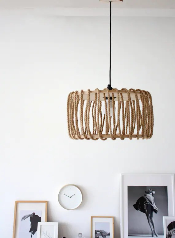 wooden scandinavian lamp mid century lighting