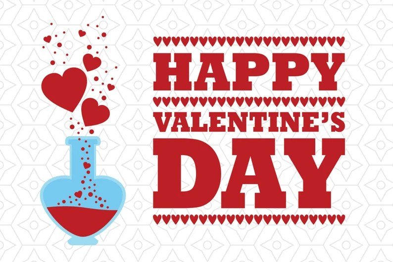 Download Happy Valentine's Day Love Potion Decal SVG DXF and AI   Etsy