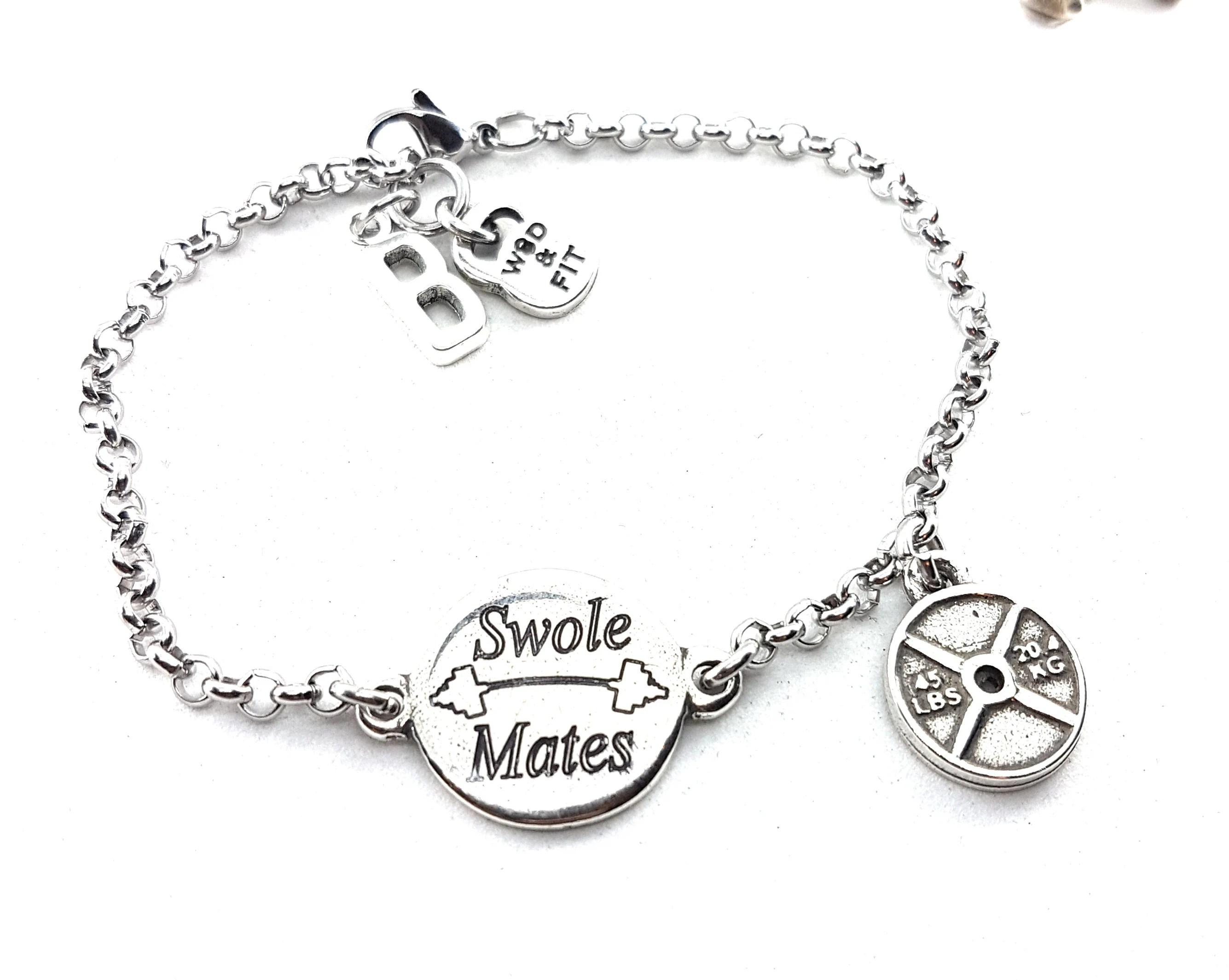 Bracelet Swole Mates Amp Weight Motivation Initialtness