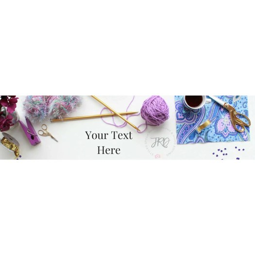 New Etsy Banner Size Styled Stock Photography Purple Yarn ...