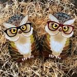 Handpainted Owl Owl Primitive Owl Wooden Decor