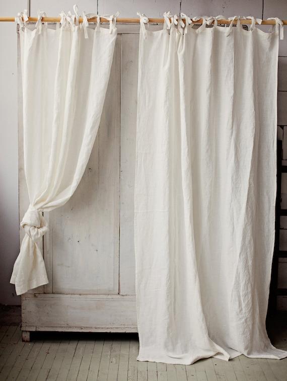 tie top linen curtain panel various colours semi sheer window door curtain custom rod drapes with ties