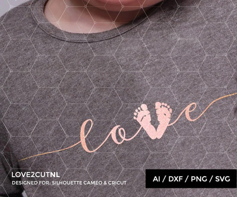 Download Baby SVG Baby Love SVG Baby foot print svg cut file for | Etsy