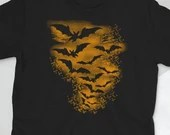 Bat Orange Silhouette  Short-Sleeve Unisex T-Shirt