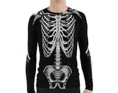 Skeleton Body All Over Print Rash Guard