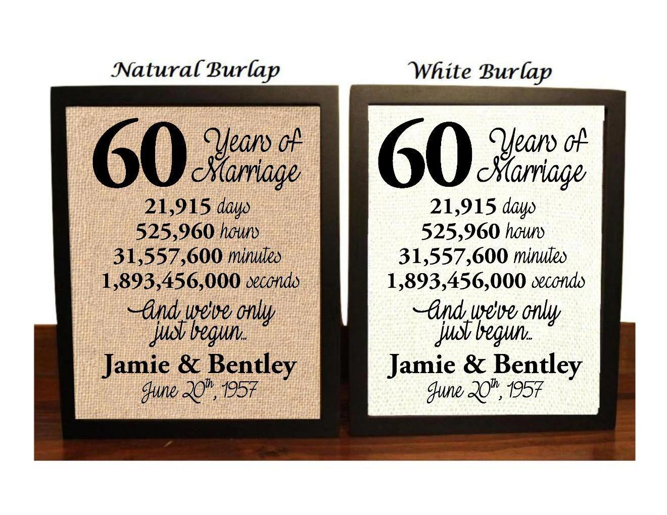 60th Wedding Anniversary 60 Year Wedding Anniversary 60th