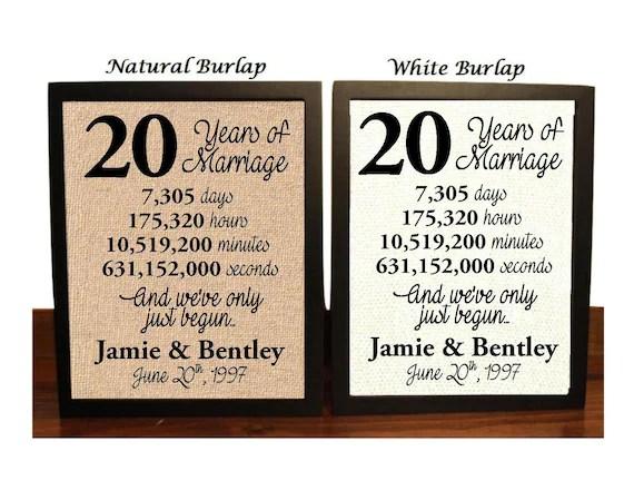 20th Wedding Anniversary 20 Year Wedding Anniversary 20th