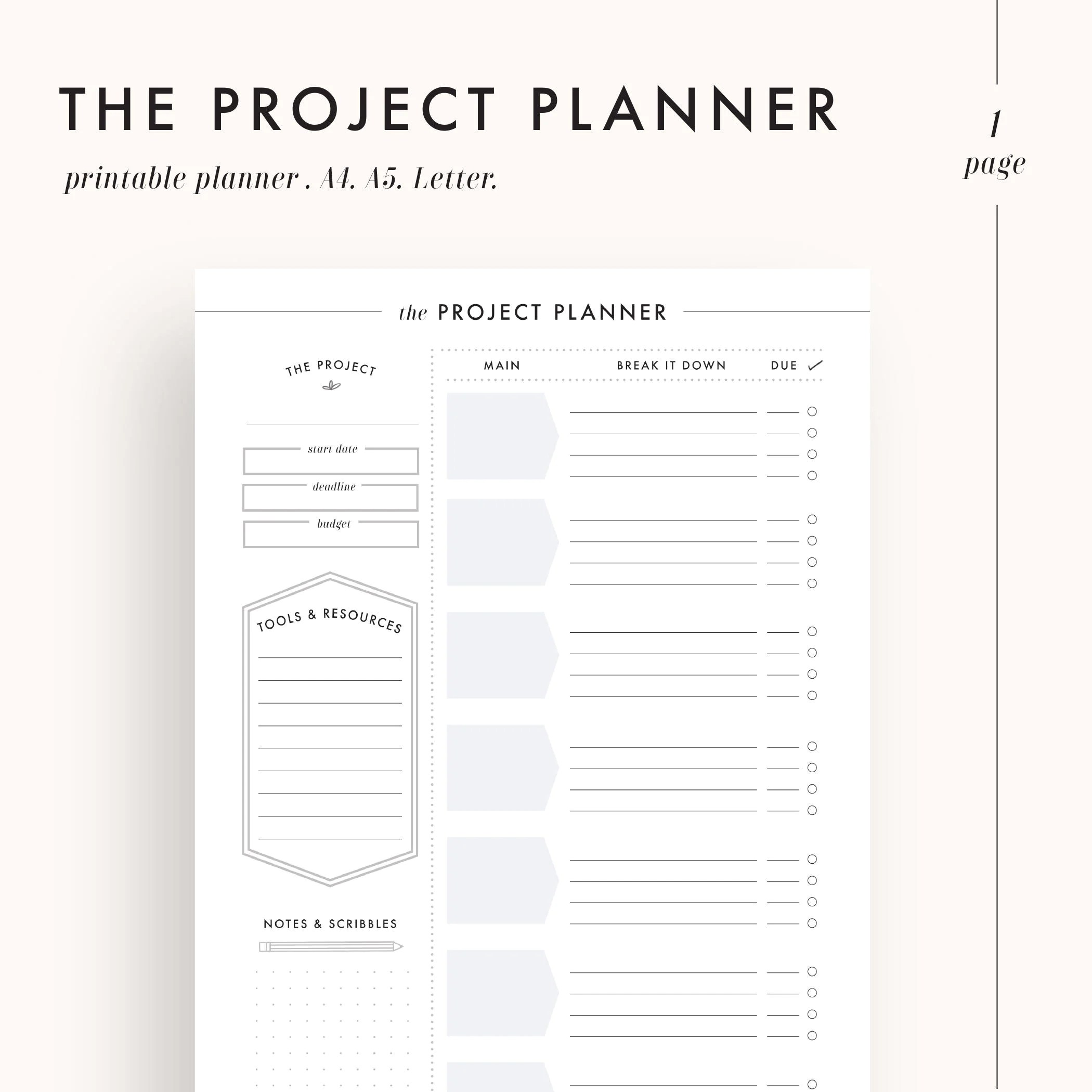 Project Planner Productivity Planner Project Management
