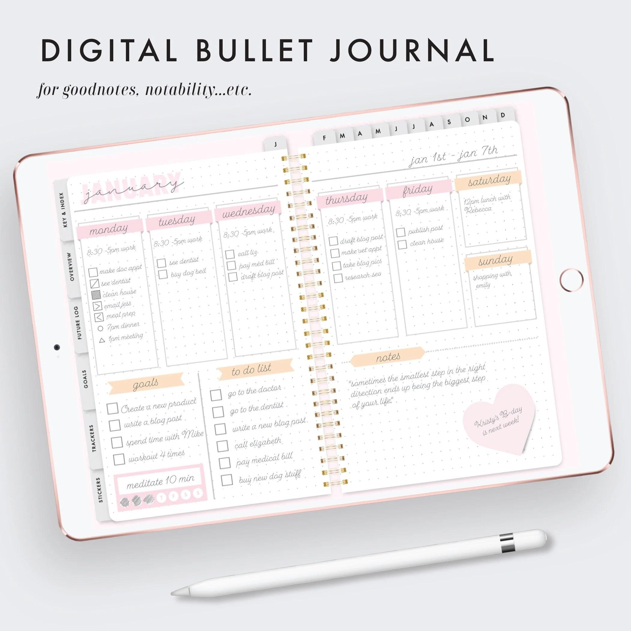 Bullet Journal Sticky Note